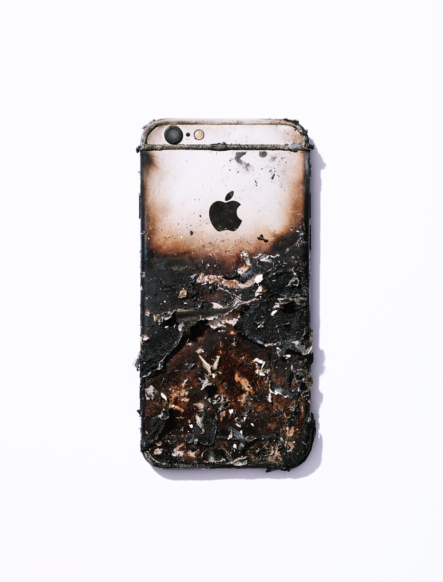 Burnt Iphone