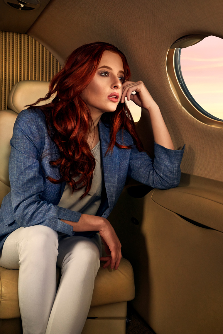 Private Jet Fashion Shoot Photo By Zach Kracht
